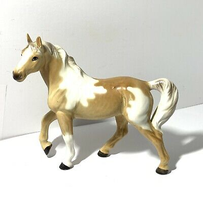 VINTAGE Porcelain Horse Figurine SPOTTED TAN White A 661 Norcrest? Painted Pony