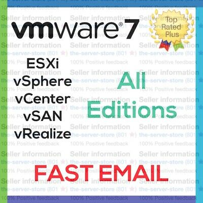 VMware ESXi 7 License Key vSphere vCenter vSAN more Enterprise Plus EMAILED ⚡️