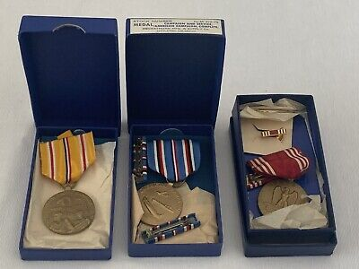 3 Original Mint WW2 Medals In Boxes