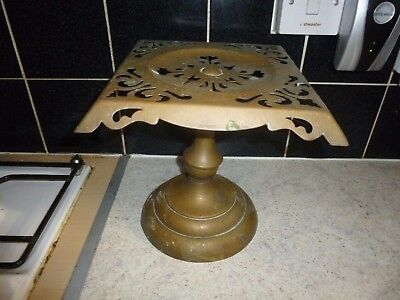 Antique Brass Trivet Kettle Teapot Plant Pot Stand