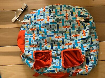 PAISLEY PINEAPPLE Reversible Shopping Cart High Chair Seat Cover Orange Airplane