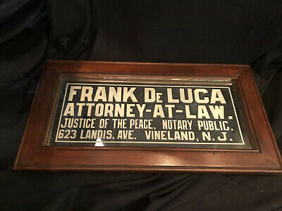 Antique Advertising Reverse Painted Trade Sign