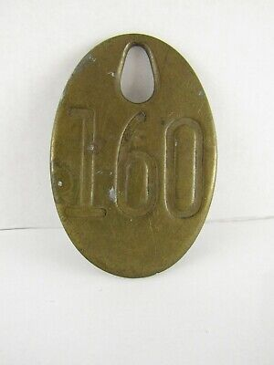 Vintage Brass Cow Tags, numbered on both sided 160