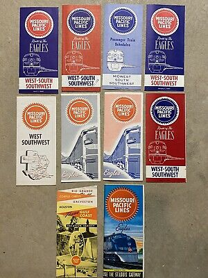 Missouri Pacific Railroad Timetable Lot