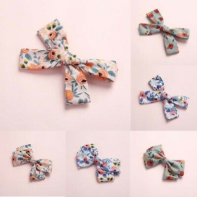 Baby Kida Flower Printed Bowknot Barrette Hairpin Hair Clips Hair Ornaments Gift