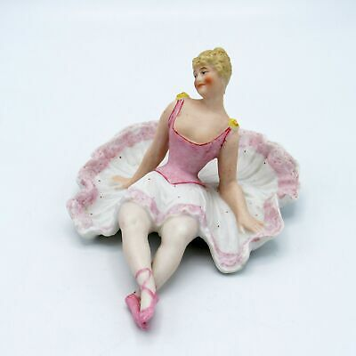 Antique German Bisque Ballerina Bathing Beauty Naughty, NR