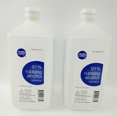 (2) NEW 32 oz Bottles of Rite Aid 91% Isopropyl Rubbing Alcohol Lot Exp. 04/2023