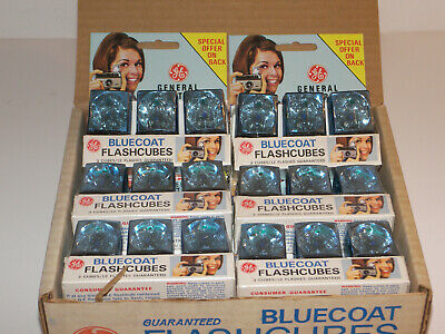 Lot_108 Case of GE Bluecoat Flashcubes 144 flashbulbs in 36 cubes
