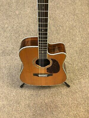 Zager ZAD80CE Easy Play Dreadnought 6-String Acoustic Electric Guitar w/Case