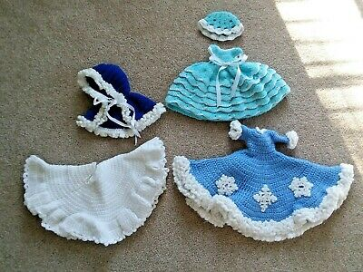 Lot Of Crocheted Bed Doll Outfits