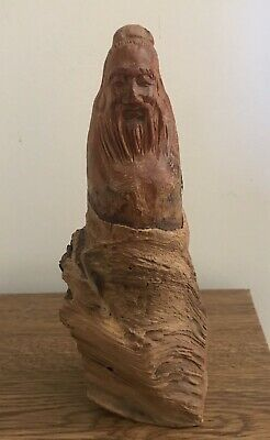 Antique Root Carved Wooden Chinese Statue
