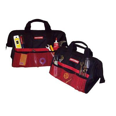 """Brand New CRAFTSMAN 13"""" & 18"""" Tool Bag Combo For Hand Power Tools & Accessories"""