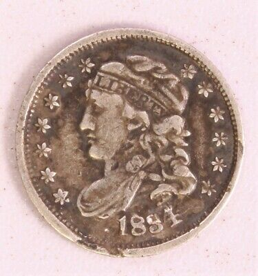 1834 Silver Capped Bust Half Dime 5c 657C