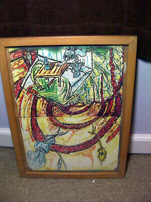 Framed Outsider art Lot 013