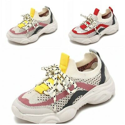Kids Childrens Girls Sports Running School Walking Sneakers Trainers Shoes 39 B