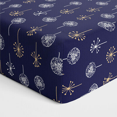 NEW Bubba Blue Night Sky Bamboo Jersey Cot Fitted Sheet