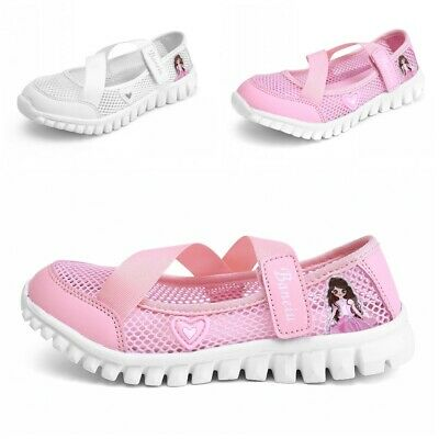Summer Kids Girls Cross Strap Breathable Sports Shoes Walking Princess Flats L