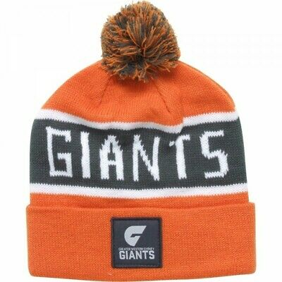 Greater Western Sydney Giants Official AFL Traditional Bar Beanie with Pom Pom