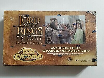 Lord of the Rings Topps Chrome Trilogy Movie cards sealed Box 2004, autographs