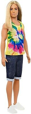 Barbie GHW66 Ken Fashionistas Doll with Long Blonde Hair NEW