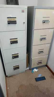 Chubb Fire Safe Filing Cabinet 4 Drawer Data Cash Documents Office + Key