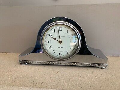 Edwardian Silver Plated mantle clock c1910