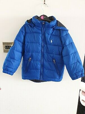 Boys toddler blue navy Ralph Lauren Puffa jacket coat 3 Years Old