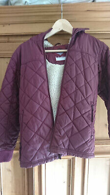 NEXT Girls Qulited Coat with faux sheepskin lining Age 10