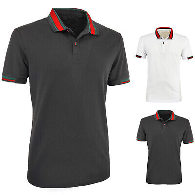 Polo Uomo Cotone Colletto Mezza Manica Corta T-Shirt Slim Fit Casual VEQUE