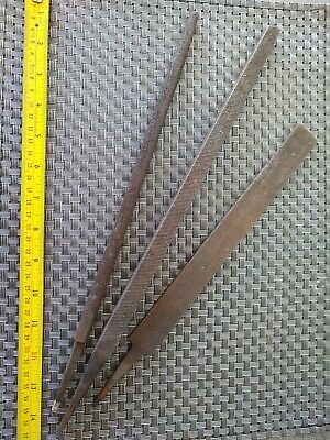 Hand Files X3 Large Flat Square Round Good Old School Tools