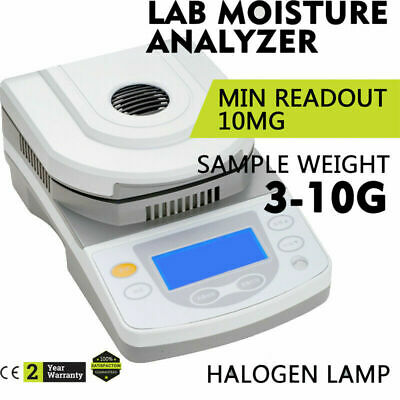 10mg Readability Touch Screen Moisture Meter Content Analyzer High Accuracy NEW