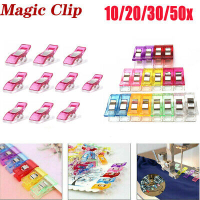 10-50Pcs Plastic Sewing Clips Clamp for Craft Quilting Sewing Knitting Crochet