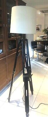 Large Timber Brass Tripod Style Floor Lamp £300 When New.