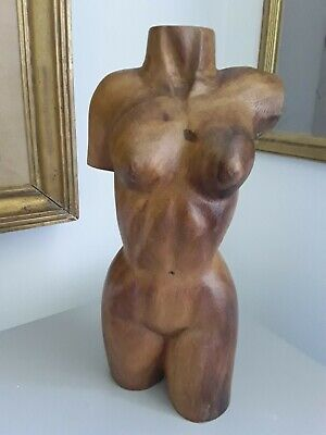Mid Century Nude Wood Carving/Sculpture