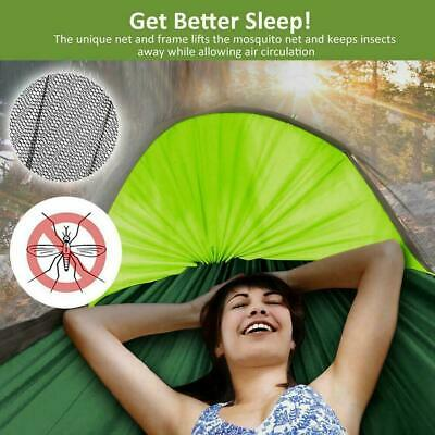 Camping Hammock With Mosquito Net Cover Double Portable Rainfly And Tent~ Y4C7