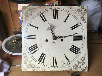 Antique white  square face for long case clock i will post