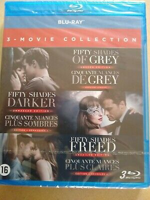 Fifty Shades Of Grey Blu Ray 3 movie collection