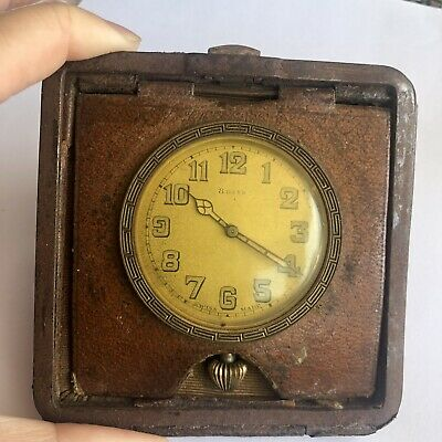 Vintage Swiss Made Travel Clock Without Case Cover 8 Days