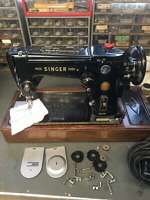 Singer 306K Semi Industrial Zig Zag Sewing Machine Black, Serviced, Case & Tools