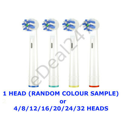Toothbrush Premium Replacement Heads Compatible with Braun Oral-B Cross Action