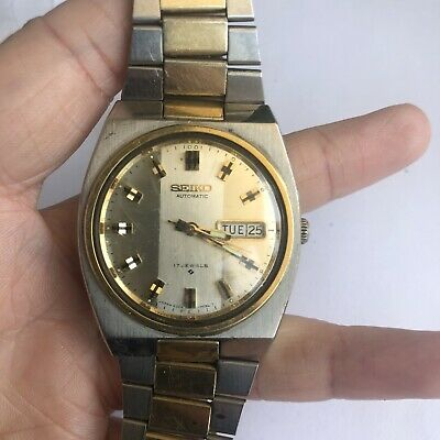 Vintage Seiko Automatic  17 Jewels Mens Watch With Day And Date 6309-7050