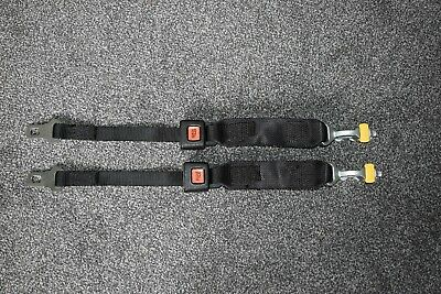 2 UNWIN BLACK WHEELCHAIR FRONT STRAPS / CLAMPS / RESTRAINT - Used*