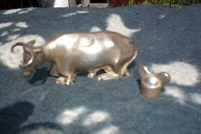 Sterling Silver Victorian Cow finial, with wingnut