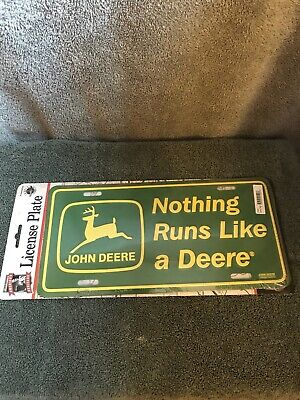 John Deere Green Field Tractor Truck Tag License Plate Display License Collector