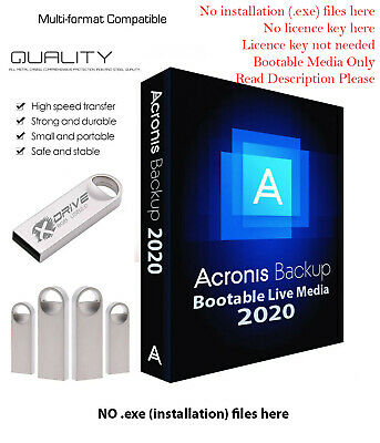 Acronis True Image 2020 BOOTABLE Backup Restore to another Drive SSD on 8GB USB