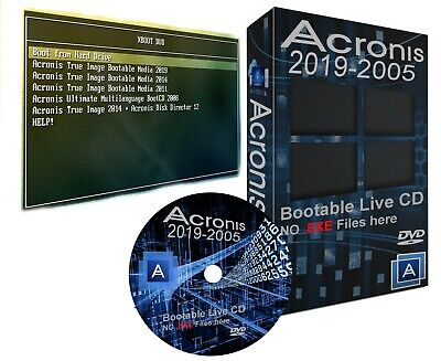 Acronis True Image Bootable CD 2011 2014 2019 Backup Restore Migrate Drive SSD