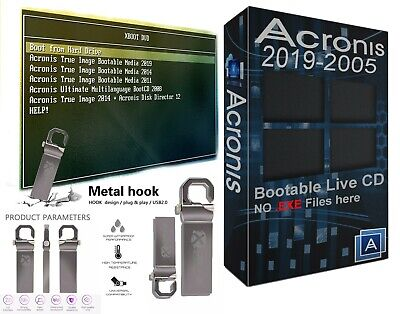 Acronis True Image Bootable 8gb USB 2019-2011 Backup Restore Migrate Drive SSD