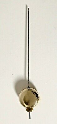 Antique Brass and Lead Filled Pendulum Rod And Bob - Combined Length 27.9cm