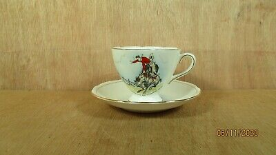 Gladstone England The Frontier City Swift Current Sask Ca. Cup & Saucer Cowboy