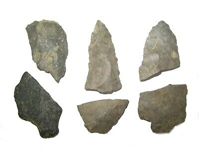 Neolithic Woodland Period Indian arrow points scrapers lot Erie New York #9
